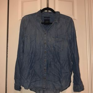 Button down chambray shirt! American eagle!
